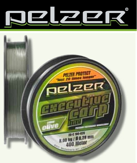 PELZER EXECUTIVE CARP LINE 1200m 0,40mm OLIVE