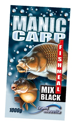 Mosella Manic Carp Fishmeal Black Mix 1kg